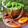 Chameleon Birthday Cake