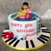 Deniz - Swimming Pool Birthday Cake