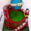 Zac - Roller coaster Birthday Cake