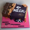 Emma - Cadbury Dairy Milk Bar Birthday Cake