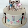 Tadhg & Nessa - Teddy Bear First Birthday Cake
