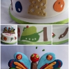 The Very -Hungry Caterpillar Birthday Cake