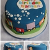 Tiaran - Train Birthday Cake