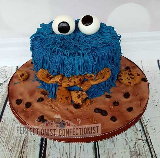 Gloria - Cookie Monster Birthday Cake