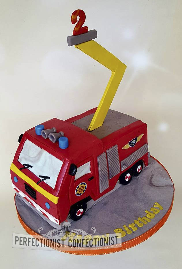 Keelin - Fireman Sam Fire Engine Birthday Cake