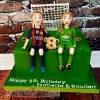 Scarlett & Isabella - Football Birthday Cake