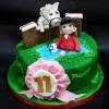 horsejumping Birthday Cake