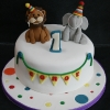 Conor - Circus First Birthday Cake