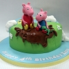 Zara - Peppa and George Birthday Cake