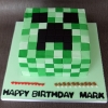 Mark - Minecraft Creeper Birthday Cake