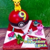 Lena - Pókeball, Pikachu and friends (birthday cake)