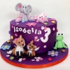 Isobella\'s Purple Birthday Cake