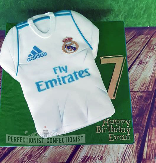 Evan - Real Madrid Jersey Cake