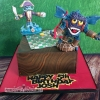 Josh - Skylander / Snakes and Ladders Birthday Cake