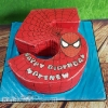 Matthew - Spiderman Birthday Cake