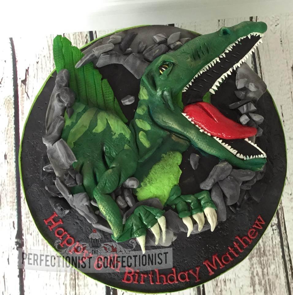 Spinosaurus - Dinosaur Birthday Cake for Matthew