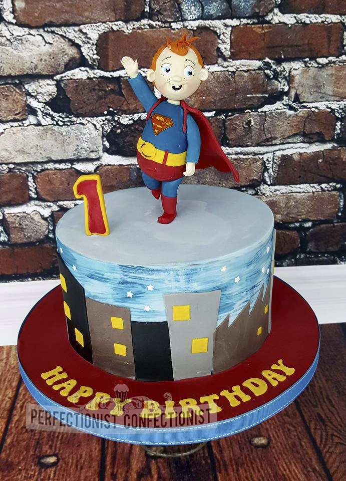 Superbaby First Birthday Cake
