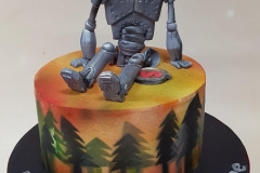 Ava - The Iron Giant Birthday Cake