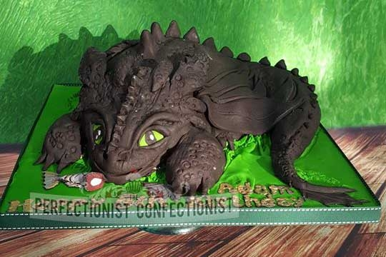 Adam - Toothless, How to Train Your Dragon Birthday Cake