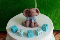 Jacob - Elephant and Blocks Christening Cake