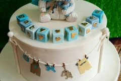 Baby Theo - Fly Bear Christening Cake