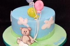 Daniel  - Bear and Balloons Christening Cake