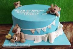 Liam - Teddy Bear Christening Cake