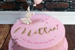 Millie - Bunny & Balloon Christening Cake