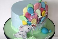Robert - Elephant and Balloons Christening Cake