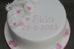 Buttons and Daisies Suin - Christening Cake