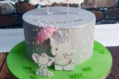 Lottie - Baby Elephant Christening Cake