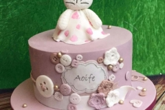 Aoife - Bunny and Buttons Christening Cake