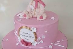 Rose - Bear and Roses Christening Cake
