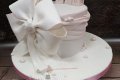 Olivia - Bow and Blocks Christening Cake