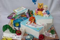 Sophia - Books Christening Cake