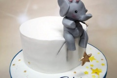 Cole - Bunny and Elephant Christening Cake