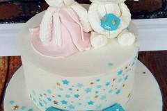 Ben - Bunny and Lamb Christening Cake