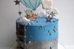 Oisín - Hot air  balloon Christening Cake