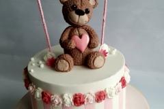 Sadie - Bear and Bunting Christening Cake