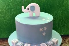 Matthew - Elephant Christening Cake