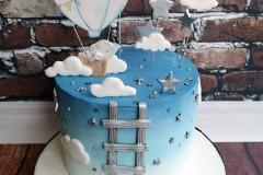 Sean - Elephant in hot air balloon christening cake.