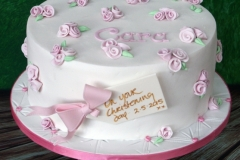Cara - Rosebud Christening Cake