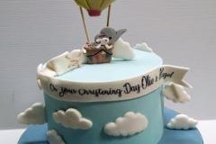 Ollie & Hazel - Hot Air Balloon Christening Cake