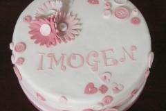 Imogen - Daisies Christening Cake