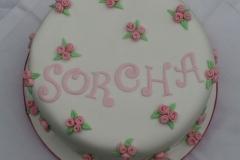 Sorcha - Rosebud Christening Cake