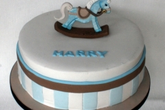 Harry - Rocking Horse Christening Cake