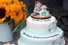 Josh and Kyle  - Christening Cake