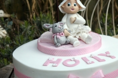 Holly - Ballerina Bunny Christening Cake