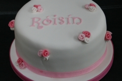 Roisin - Rosebud Christening Cake