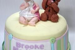 Brooke - Bear and Baby Christening Cake